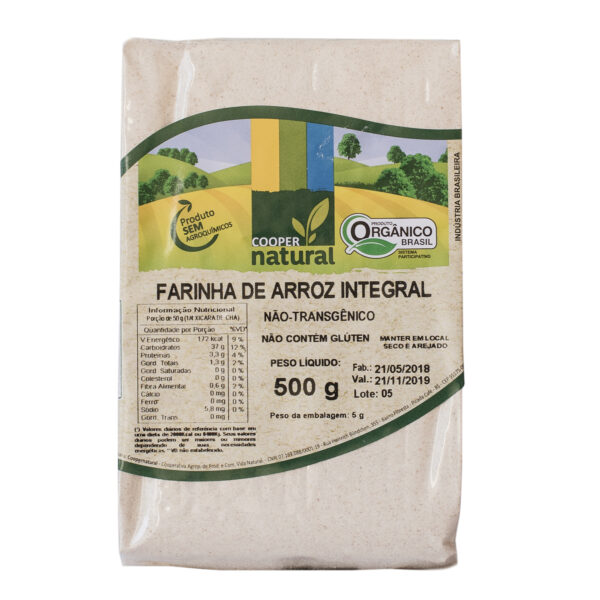 FARINHA DE ARROZ INTEGRAL 500G