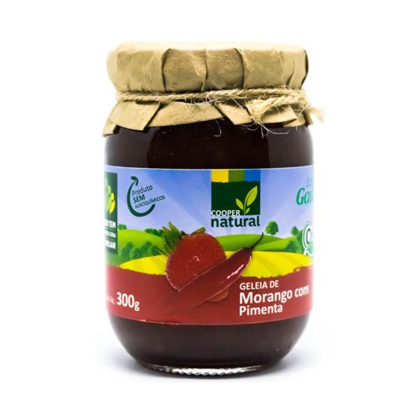 Geelia de Morango com pimenta