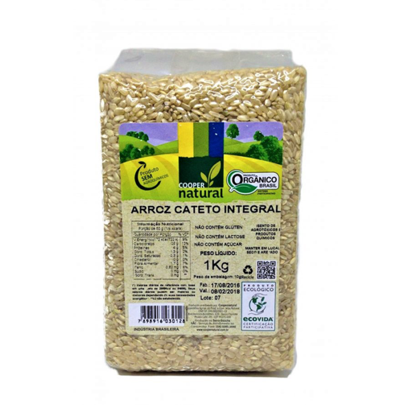 Arroz Cateto Integral 1 kg